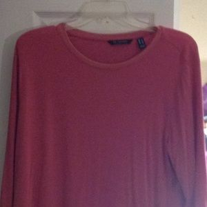 Pink H by Halston 3/4 sleeve super soft tunic